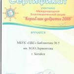 сертификат кораблик доброты