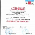 Сертификат Тихая песня